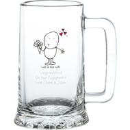 Personalised Chilli & Bubble's Engagement Glass Stern Tankard