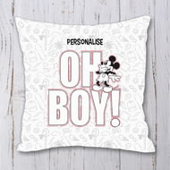 Personalised Disney Mickey Mouse Oh Boy! Personalised Cushion - 45x45cm