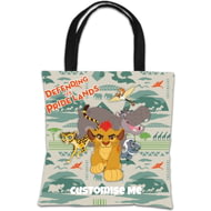 Personalised Disney The Lion Guard Group Defending The Pride Lands Tote Bag