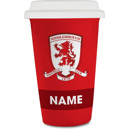 Personalised Middlesbrough FC Eat Sleep Drink 350ml Reusable Tea / Coffee Cup with Lid