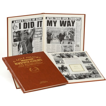 Personalised The Open Golf History Newspaper Book