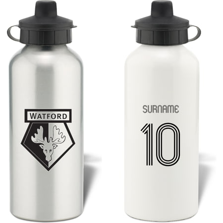Personalised Watford Retro Shirt Water Bottle