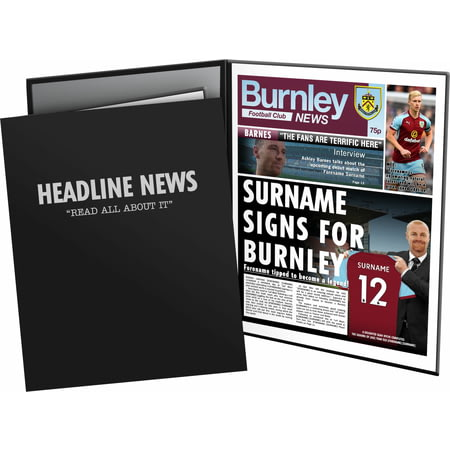 Personalised Burnley FC Spoof Newspaper Folder