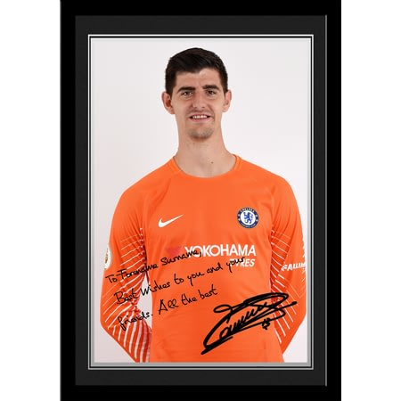Personalised Chelsea FC Courtois Autograph Photo Framed