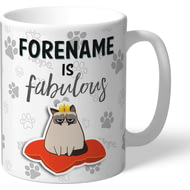 Personalised Grumpy Cat Emoji - Fabulous Mug Grey