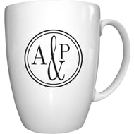 Personalised Monogram Circle Conic Ceramic Mug