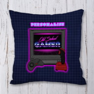 Personalised Old School Gamer Cushion