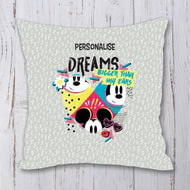 Personalised Disney Mickey Mouse Bigger Dreams Personalised Cushion - 45x45cm