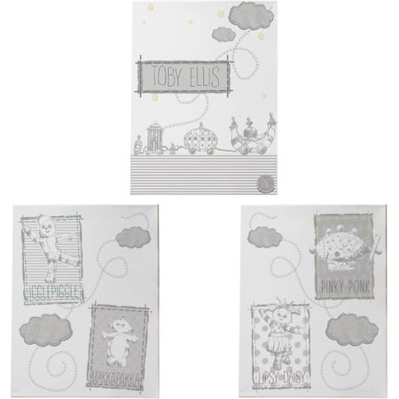 Personalised In The Night Garden Magic Garden Set Of 3 Canvas