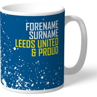 Personalised Leeds United FC Proud Mug