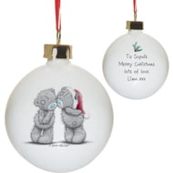Personalised Me To You Christmas Together Ceramic Bauble