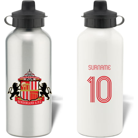 Personalised Sunderland AFC Retro Shirt Water Bottle