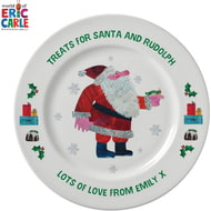 "Personalised Very Hungry Caterpillar Treats For Santa 8"" Plate"