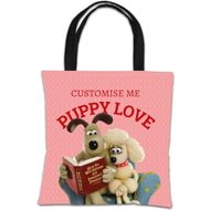 Personalised Wallace And Gromit Puppy Love Tote Bag