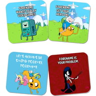 Personalised Adventure Time Finn And Jake Coasters 4 Pack