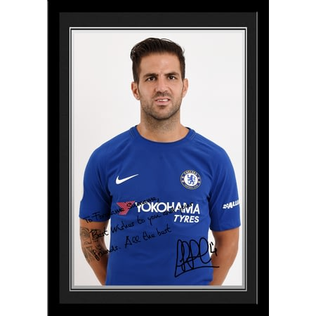 Personalised Chelsea FC Fabregas Autograph Photo Framed