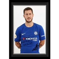 Personalised Chelsea FC Hazard Autograph Photo Framed