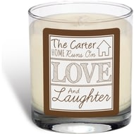 Personalised Love And Laughter Vanilla Scented Candle