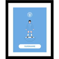 Personalised Manchester City FC Player Figure Framed Print