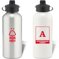 Personalised Nottingham Forest FC Monogram Aluminium Water Bottle