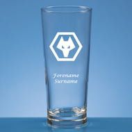 Personalised Wolves FC Crest Beer Pint Glass
