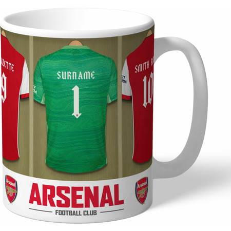 Personalised Arsenal FC Goalkeeper Dressing Room Shirts Mug