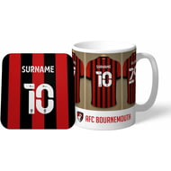 Personalised Bournemouth Dressing Room Shirts Mug & Coaster Set