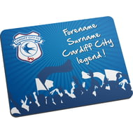 Personalised Cardiff City FC Legend Mouse Mat