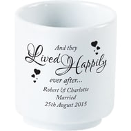 Personalised Happily Ever After Bone China Egg Cup