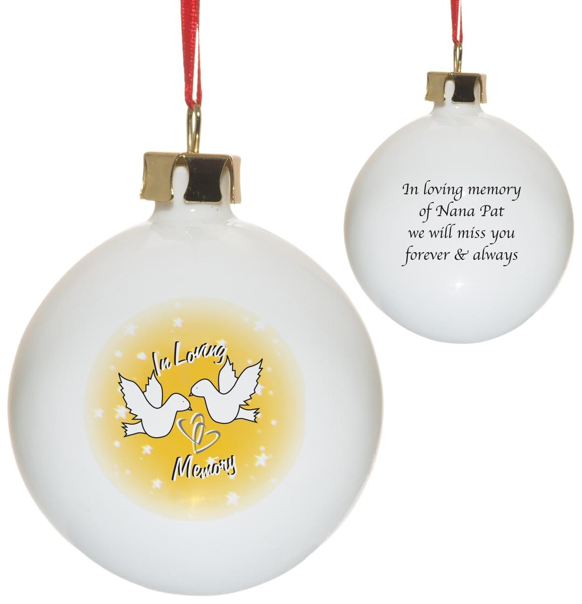 🎁Buy your Personalised In Loving Memory Bone China Christmas Tree ...