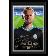Personalised Leicester City FC Schmeichel Autograph Photo Framed