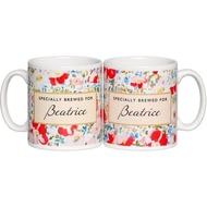 Personalised Tea Lovers Ceramic Mug - Floral Design