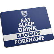 Personalised West Bromwich Albion FC Eat Sleep Drink Mouse Mat