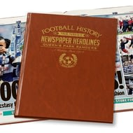 Personalised QPR Football Newspaper Book - Leatherette Cover