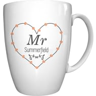 Personalised Mr Heart Conical Ceramic Mug