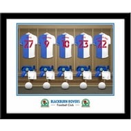 Personalised Blackburn Rovers FC Dressing Room Shirts Framed Print