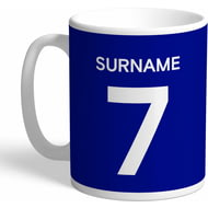 Personalised Chelsea FC Player Shirt Mug