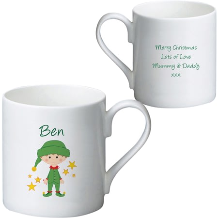 Personalised Christmas Elf Ceramic Mug Ceramic Mug