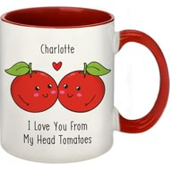 Personalised From My Head Tomatoes Red Inside Ceramic Mug
