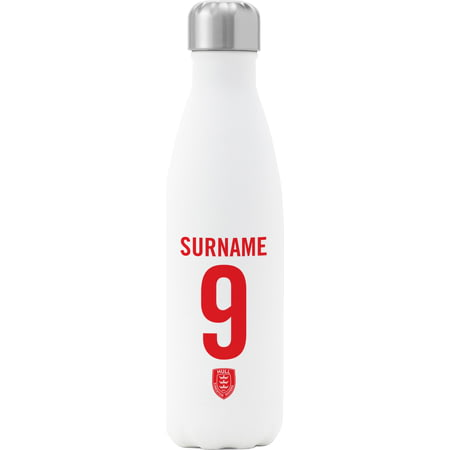 Personalised Hull Kingston Rovers Back Of Shirt Insulated Water Bottle - White