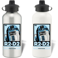 Personalised Star Wars R2 D2 Pop Art Aluminium Aluminium Sports Water Bottle