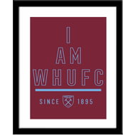 Personalised West Ham United I Am Framed Print