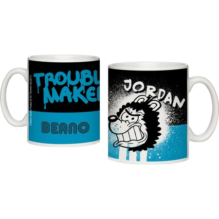 Personalised Beano Big Heads Gnasher Mug