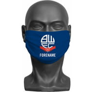Personalised Bolton Wanderers FC Crest Adult Face Mask