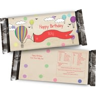 Personalised Child's Birthday Girl Chocolate Bar