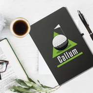 Personalised Golf Green Black Notebook & Ballpoint Pen
