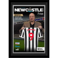 Personalised Newcastle United FC Magazine Front Cover Photo Framed