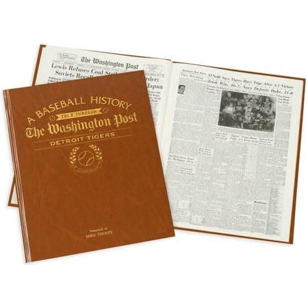 Personalised Detroit Tigers Baseball Newspaper Book