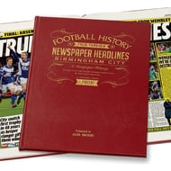 Personalised Birmingham City Football Newspaper Book - Leather Cover