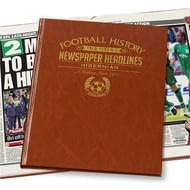 Personalised Hibernian Football Newspaper Book - Leatherette Cover